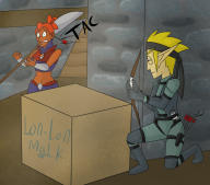 artist:johnny5 cosplay game:ocarina_of_time gerudo legend_of_zelda link master_quest metal_gear solid_snake streamer:vinny // 999x880 // 1.0MB