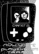 artist:smudgebap game:game_boy_color game:game_boy_trash grayscale streamer:vinny // 450x620 // 23.2KB
