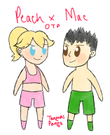artist:tanookipants game:tomodachi_life little_mac otp peach streamer:vinny // 576x704 // 254.6KB