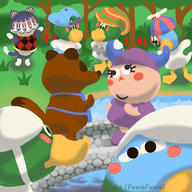 artist:Jes_FuwaFuwa corruptions game:animal_crossing rover scoot streamer:vinny tom_nook // 2500x2500 // 1.9MB