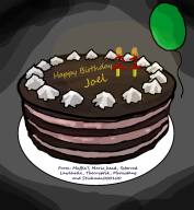 artist:maffia7 cake happy_birthday streamer:joel // 885x959 // 255.5KB