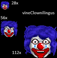 clown emoticon streamer:vinny // 194x200 // 37.3KB