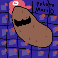 artist:p0lardeer charity_stream game:super_mario_64 potato // 1000x1000 // 85.6KB