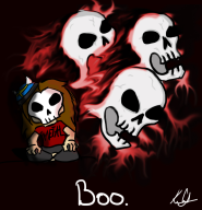 artist:dragon7shadow boo skeletons streamer:joel // 1125x1165 // 343.4KB