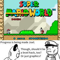 artist:superltsurge game:super_mario_world hack mario skeleton streamer:joel vinesauce // 500x500 // 44.0KB