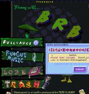 Game:Hypnospace_Outlaw artist:ModerateDasein brb streamer:vinny // 869x921 // 580.6KB