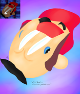 artist:uberrush corruptions game:super_mario_64 mario streamer:vinny // 1800x2100 // 1.8MB