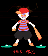 animated artist:shadowity game:earthbound ness sen streamer:vinny // 1035x1204 // 955.6KB