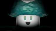 3d animated artist:ahugepancake brb low-poly vineshroom // 640x360 // 5.9MB
