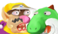 blood mario_paint streamer:joel wario yoshi // 613x362 // 74.3KB