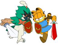 artist:daxerdoodle decidueye game:a_link_to_the_past game:zelda_randomized garfield streamer:hootey streamer:vinny // 1900x1500 // 95.4KB