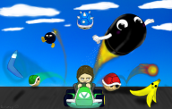 artist:gulumpy blue_shell bob-omb bullet_bill game:mario_kart_8 salt streamer:vinny vinesauce // 1100x700 // 1.2MB