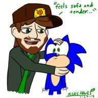 artist:Indy_Film_Productions gamemaker out_of_context sonic streamer:vinny // 1920x1920 // 993.5KB