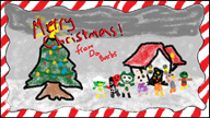 artist:parlkilkington card cherry christmas coco drake game:animal_crossing house scoot streamer:vinny tree // 1084x615 // 474.4KB