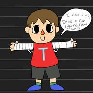 artist:pkspacedoodle game:ermii_kart streamer:vinny villager // 1000x1000 // 71.2KB