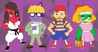 artist:regularcat bob cherry game:animal_crossing game:earthbound scoot streamer:vinny // 1600x850 // 360.6KB