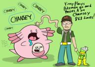 artist:Sinkcandycentral chansey game:pokemon_lets_go_eevee poke scoot streamer:vinny // 2339x1661 // 1.3MB