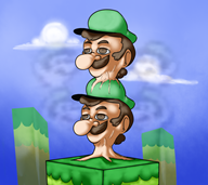artist:grand0m charity_stream_2016 corruptions game:super_mario_bros_2 luigi streamer:vinny // 1087x971 // 872.8KB