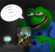 artist:blankfaece frogger game:frogger:_the_great_quest pepe streamer:vinny // 1008x959 // 554.1KB
