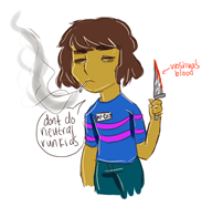 blood cigarette frisk game:hard_tale game:undertale knife smoke smoking // 1228x1200 // 483.9KB