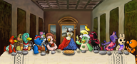artist:veigariumleviosa bella bob cherry coco drake game:animal_crossing ganon inkwell isabelle ketchup medli molly scoot streamer:vinny // 1500x708 // 1.1MB