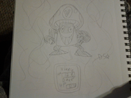 artist:donkeyshspittle game:earthbound sketch traditional vineshroom // 2048x1536 // 1006.9KB