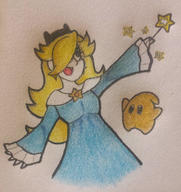 artist:anderym game:super_mario_galaxy_2 happy luma rosalina streamer:imakuni // 1176x1250 // 1.1MB