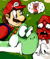 artist:moogy game:super_mario_world game:super_mario_world_romhacks mario rom_hacks streamer:vinny turkey yoshi // 648x752 // 97.8KB
