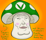 artist:fishlazer97 birthday kawaii streamer:vinny vinesauce vineshroom // 800x700 // 380.6KB