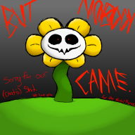 artist:candythekitty1152 flowey game:undertale streamer:joel // 1200x1200 // 349.9KB