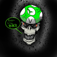 artist:n1ghtfre4k be_right_back brb mushroom skullshroom streamer:joel vineshroom vineskull // 1280x1280 // 323.5KB