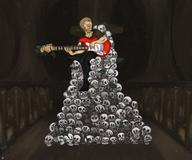 artist:scootlei birthday guitar skulls streamer:joel // 1800x1500 // 2.3MB