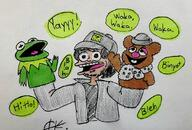 Fozzie_Bear artist:emotional_mallow kermit streamer:vinny the_muppets // 1080x731 // 105.6KB