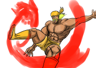 artist:bendacriss game:earthbound giygas hulk_hogan mugen streamer:joel // 1360x960 // 794.0KB