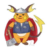 artist:cantaloupe game:pokemon_blue pokemon raichu streamer:joel thor // 559x570 // 201.5KB