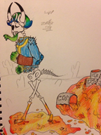 artist:z0mbiec0la skeleton streamer:joel traditional traditional_art // 640x853 // 147.7KB