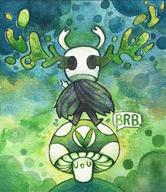 artist:lovelycrusade brb game:Hollow_knight streamer:vinny traditional_art vineshroom watercolor // 1040x1202 // 514.8KB