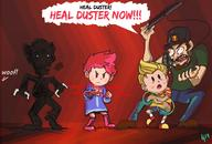 angry artist:Cryomancer duster fight game:mother_3 kumatora lucas streamer:vinny // 1280x866 // 645.2KB