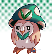artist:goddess game:pokemon rowlet streamer:vinny vineshroom // 1200x1300 // 697.2KB