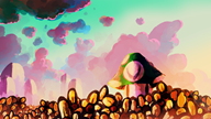 artist:placeholder clouds flowers sunset vinesauce vineshroom // 2560x1440 // 2.4MB