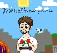 artist:tadokorocchi game:minecraft streamer:vinny vinecraft // 864x803 // 92.5KB
