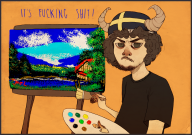 artist:sprouteeh bob_ross game:mario_paint streamer:joel // 1616x1141 // 2.5MB
