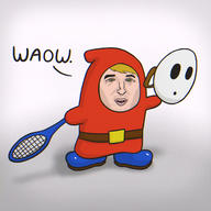 artist:segab game:mario_tennis_aces owen_wilson shy_guy streamer:vinny // 1400x1400 // 1.9MB