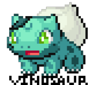 artist:leonum bulbasaur edit pixel_art pokemon streamer:vinny // 336x296 // 3.8KB