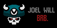 artist:airi_muffins brb joel_vineshroom pixel_art red_eyes streamer:joel // 1200x600 // 15.0KB