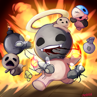 antibirth artist:carmenia game:binding_of_isaac streamer:vinny // 1800x1800 // 2.2MB