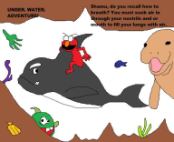 artist:lamango dopefish elmo game:Shamu's_Deep_Sea_Adventures shovelware_showcase streamer:vinny // 520x425 // 36.3KB