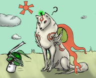 amaterasu ammy game:okami issun samurai streamer:mentaljen vineshroom // 880x721 // 415.6KB