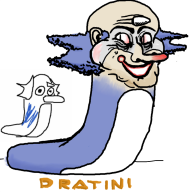 artist:defridgerator clown dratini game:pokedraw pokemon streamer:joel // 800x800 // 2.4MB