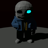 3d artist:carecoaxer game:undertale sans streamer:joel // 1080x1080 // 139.4KB